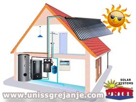 Solarni sistemi - Solarni sistemi za grejanje vode sanitarne ptv - Solarni paneli vakuumski kolektori - Solarno grejanje