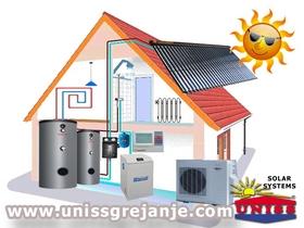 SOLARNIO SISTEMI - Solarni sistemi za solarno grejanje kuće, vode - Solarni paneli - Solarni kolektori - Solarno grejanje - Toplotne pumpe - Solarni sistem za grejanje kuće, vode