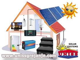 SOLARNI SISTEMI - Solarni paneli, kolektori za struju, vikendice - Solarni sistemi, fotonaponski za struju, proizvodnju struje, električne energije - Solarni sistem za vikendicu, kuću - komponente - Solarni kolektori - Solarni paneli