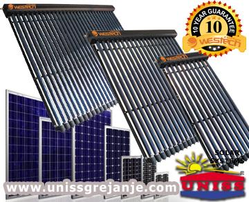 Solarni kolektori - Solarni kolektori vakuumski cevni - Solarni kolektori sa vakuumskim cevima za solarno grejanje vode kuce - Solarni kolektori za struju pv moduli - Solarni paneli - Solarni sistemi