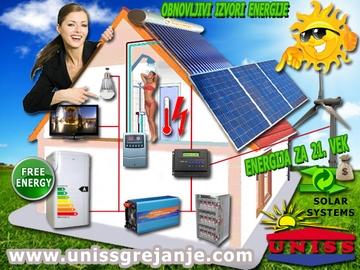Solarni sistemi za struju, solani sistemi za grejanje vode - proizvodnja struje za vikendice, salaše, udaljene kuće - Solarni paneli - Vetrogeneratori