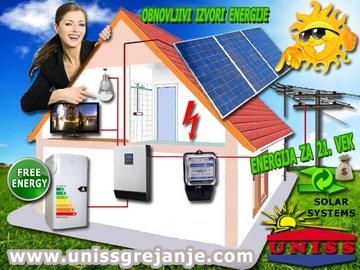 Solarni sistemi za struju - Solarna elektrana - On-Grid sistemi za proizvodnju struje, električna energija za svaki dan - Priključenje na elektrodistributivnu mrežu