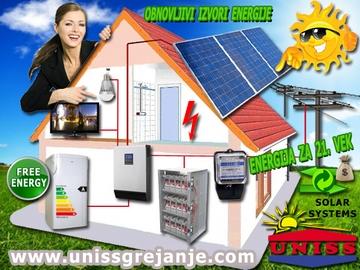 Solarni sistemi za struju - Solarna elektrana - On-Grid sistemi za proizvodnju struje, električna energija za svaki dan sa baterijskom bankom - Priključenje na elektrodistributivnu mrežu