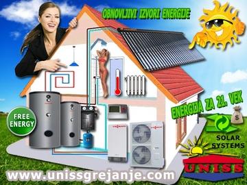 SOLARNI SISTEMI - Solarni sistemi za grejanje kuće, vode, bazena - Solarni sistemi i toplotne pumpe - Solarni vakuumski kolektori - Toplotne pumpe - Obnovljivi izvori energije - Energija za 21. vek