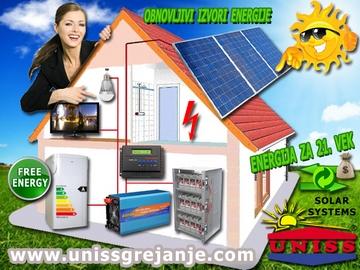 Solarni sistemi za struju - Solarna elektrana - Nezavisni Off-Grid sistemi za proizvodnju struje, električne energije sa baterijskom bankom