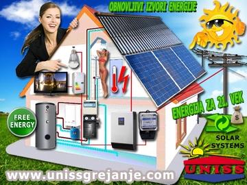 SOLARNI SISTEMI - Solarni sistemi za grejanje vode, ptv, stv - Solarni sistemi za struju, proizvodnju struje, električne energije - Solarni hibridni sistemi - Obnovljivi izvori energije - Energija za 21. vek