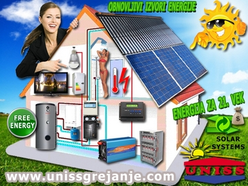 SOLARNI SISTEMI - Solarni sistemi za grejanje sanitarne vode, ptv, stv - Solarni sistemi za struju, proizvodnju struje, električne energije - Solarni hibridni sistemi - Obnovljivi izvori energije - Energija za 21. vek