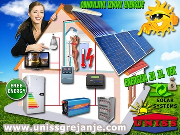 Solarni sistemi za struju, solani sistemi za grejanje vode - proizvodnja struje za vikendice, salaše, udaljene kuće