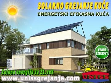 SOLARNO GREJANJE / Solarno grejanje kuće - Toplotne pumpe - Solarna energija - Energetski efikasne kuće, pasivne kuće / Obnovljivi izvori energije - Solarno grejanje kuće, solarno grejanje sanitarne vode - Solarno grejanje kuće i vode