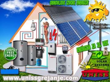 SOLARNO GREJANJE - Solarno grejanje kuće - Toplotne pumpe / Solarni paneli za grejanje - Solarni paneli za struju